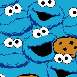 Puuvilla-elastaanitrikoo Cookie Monster