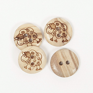 DROPS-napit 627 Sheep 15 mm
